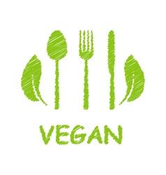 Green Healthy Food Icon vector image