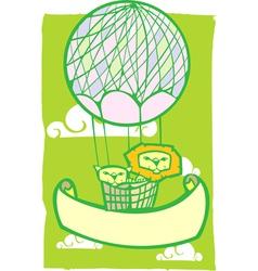 Happy Lion Balloon Banner vector image vector image