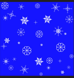 snowflake seamless pattern isolated christmas vector image