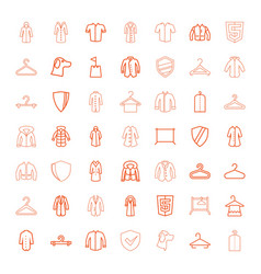 49 coat icons vector image