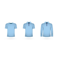 A set of blue t-shirts vector