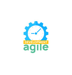Agile icon methodology development scrum vector