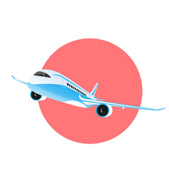 airplane flying in sky vector image