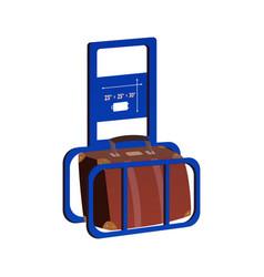 Airport metal cage icon vector