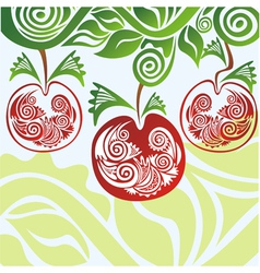 Apples pattern branch vector
