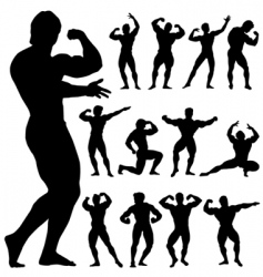 body building vector image