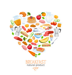 breakfast banner vector image