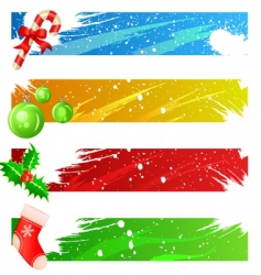 Christmas banner set vector image