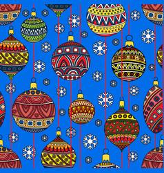 christmas toys festive seamless pattern vector image