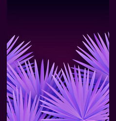 colorful modern with tropical palm leaves vector image