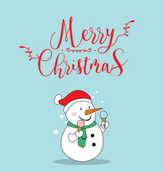 cute snow christmas greeting card vector image