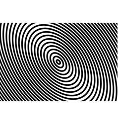 dark black background in circles lines design vector image