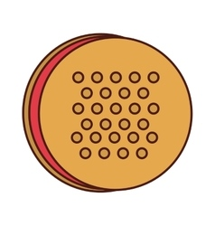 delicious sweet cookie icon vector image