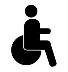 Disable person silhouette icon vector