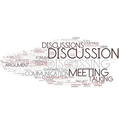 Discussions word cloud concept vector