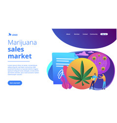 distribution hemp products concept landing page vector image