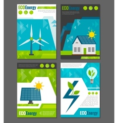 Eco energy icons poster vector