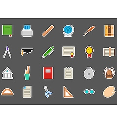 Education stickers set vector image vector image