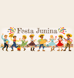 Festa junina brazil june festival folklore holiday vector