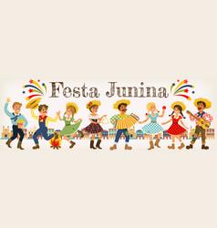 festa junina brazil june festival folklore holiday vector image