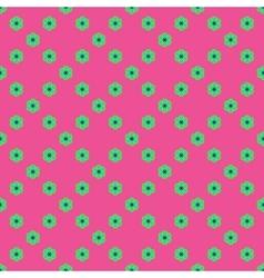 Flowers geometric seamless pattern 3806 vector image