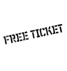 Free ticket rubber stamp vector