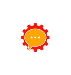 gear talk logo vector image