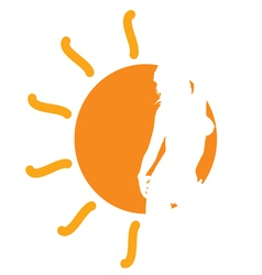girl in the sun vector image