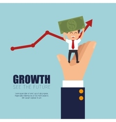 growth business money project graphic vector image