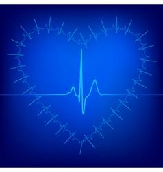 heart beat background vector image vector image