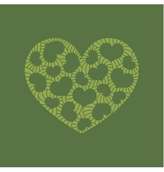 Heart doodle kale vector