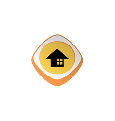 Home glossy color app icon button game asset theme vector