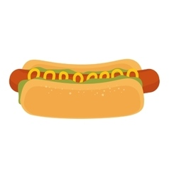Hot dog fast food vector