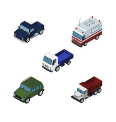 Isometric transport set of first-aid armored vector