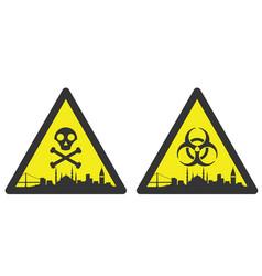 istanbul danger emergency biological hazard signs vector image