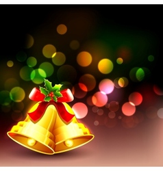 Jingle Bell in Christmas background vector image
