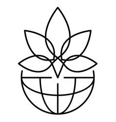 leaf marijuana logo outline style vector image