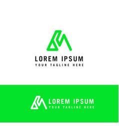 letter m line logo design linear creative minimal vector image