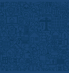 Line house seamless pattern vector