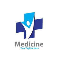 medicine health logo designs vector image