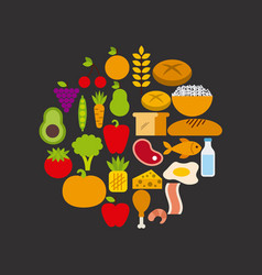 nutrition concept design vector image