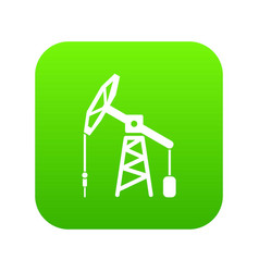 oil rig icon green vector image