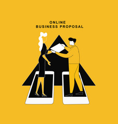Online business proposal vector
