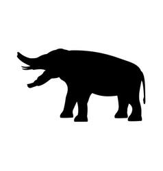 Platybelodon elephant silhouette extinct mammal vector