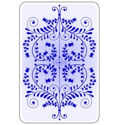 Poker playing card backside blue vector