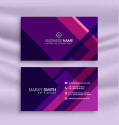 Purple abstract business card template vector