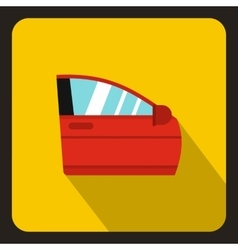 Red car door icon flat style vector