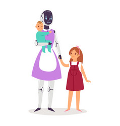 robot humanoid people futuristic robotic vector image