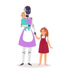 Robot humanoid people futuristic robotic vector