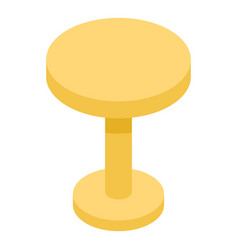 Round yellow table icon isometric style vector